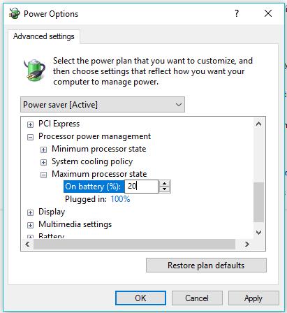 نصائح لإطالة عمر بطارية حاسبك المحمول في ويندوز 10